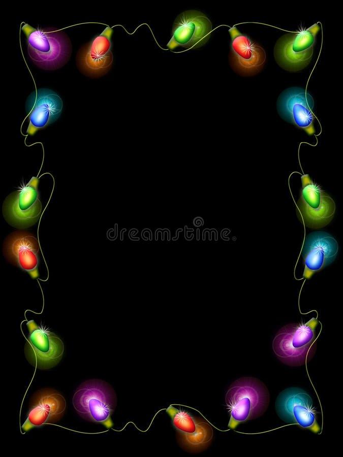 border christmas light διανυσματική απεικόνιση