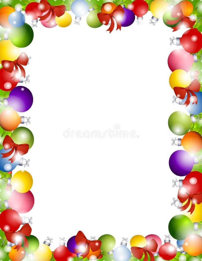border christmas ornaments απεικόνιση αποθεμάτων