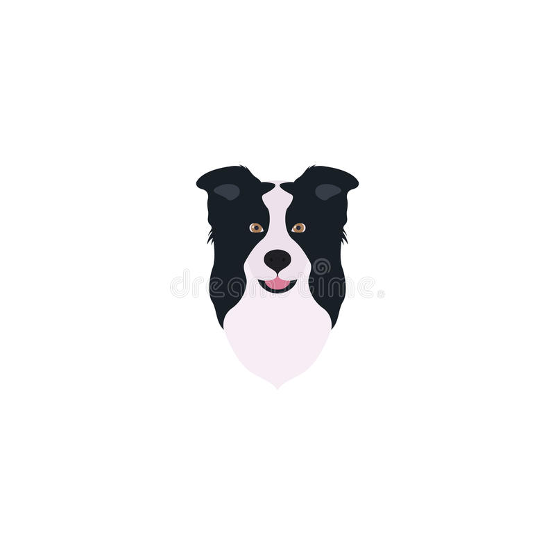 Download Border Collie Head. Stock Vector - Image: 83705323