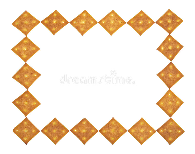 Border of crackers royalty free stock photos