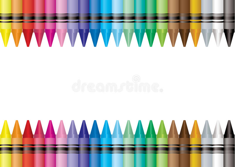 Border crayon royalty free illustration