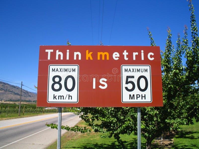border crossing sign στοκ φωτογραφίες