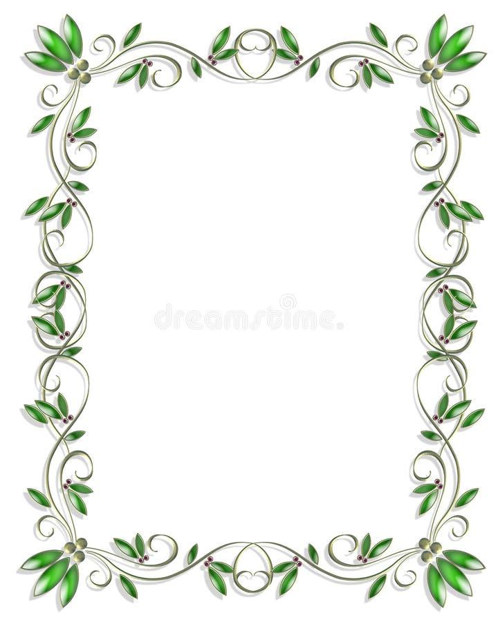 download border design element green 3 stock illustration illustration of illustration artistic 4489477