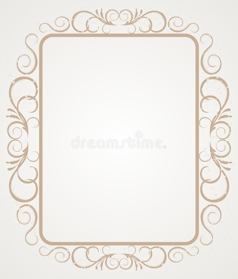 border design frame vintage иллюстрация штока