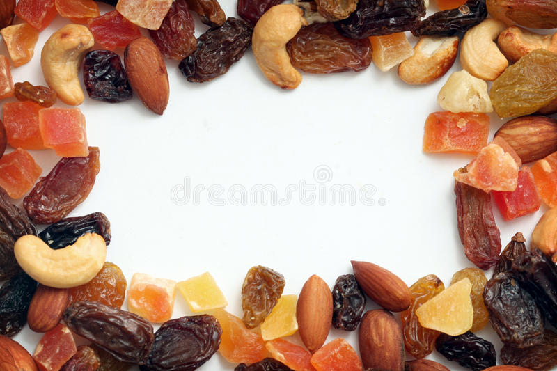 Download Border Of Dried Fruits And Nuts Stock Photo - Image of dried, pear: 17180274