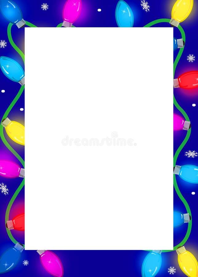 border festive lights διανυσματική απεικόνιση