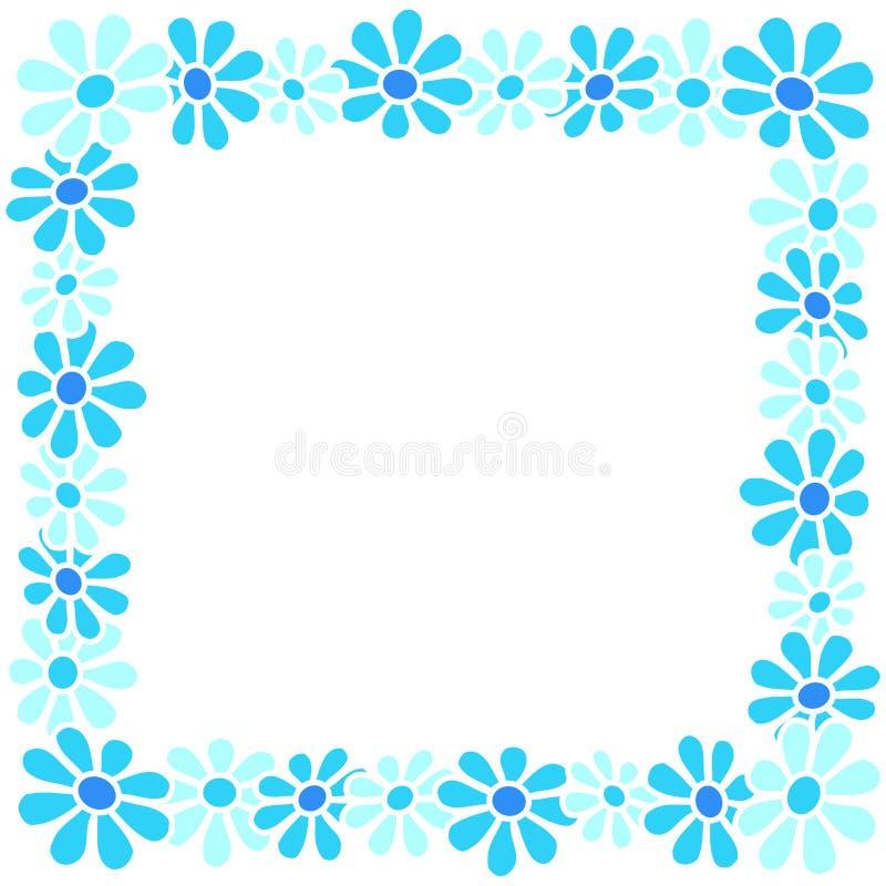 border flowers απεικόνιση αποθεμάτων