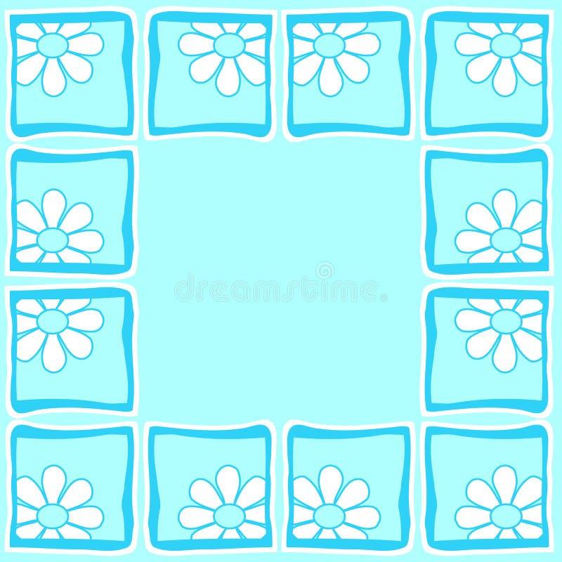 border flowers διανυσματική απεικόνιση