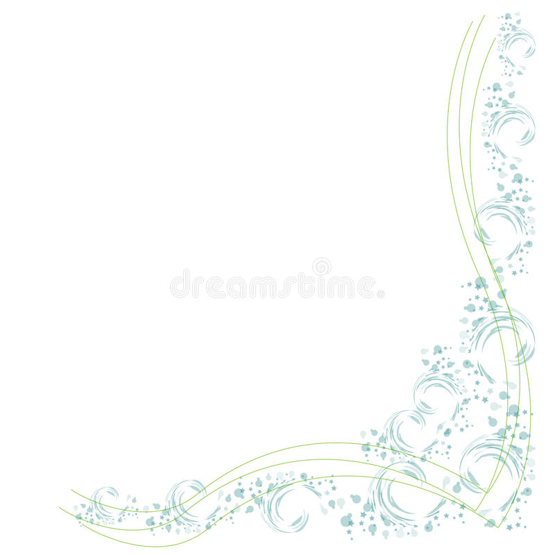 Border with Flowers and lines. Extra area to add text or other images - illustrated art work royalty free illustration