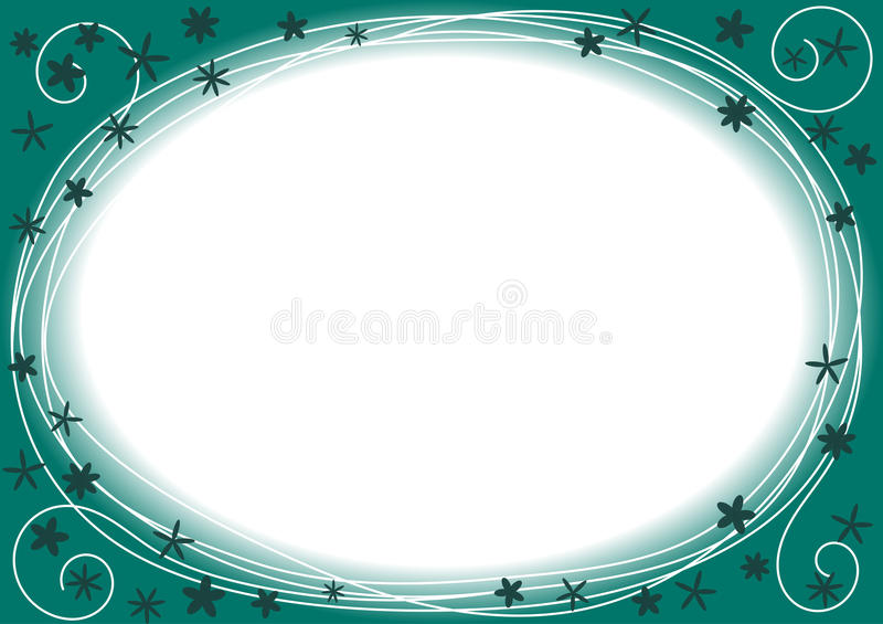 Download Border Frame With Blue And Green Circles Stock Illustration - Image: 27798912