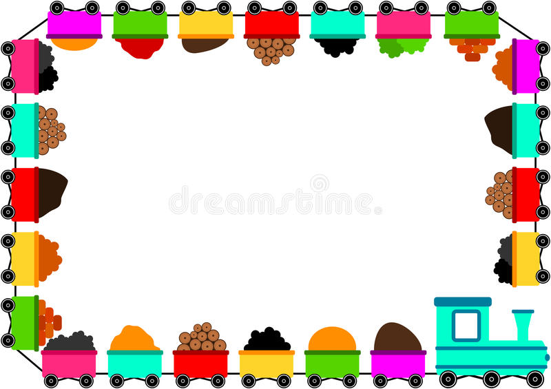Train Border Toy Frame royalty free illustration