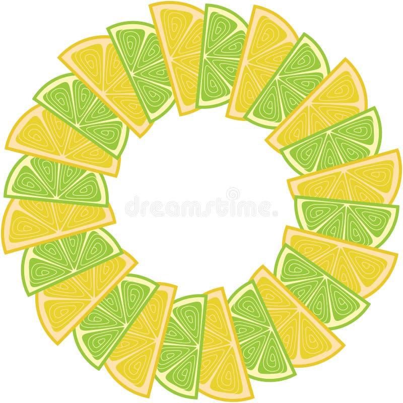 border frame with lemon and lime stock vector illustration of rh dreamstime com
