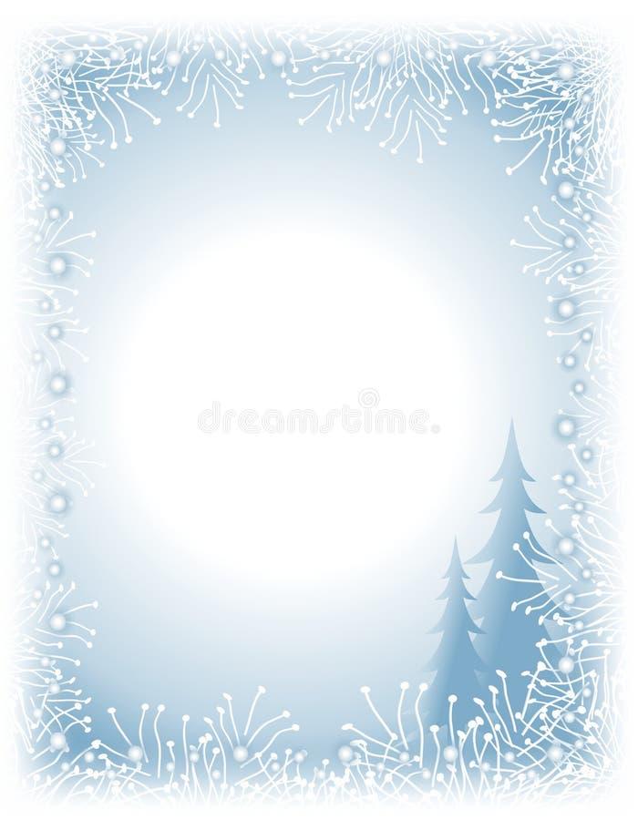 border garland lights tree white απεικόνιση αποθεμάτων