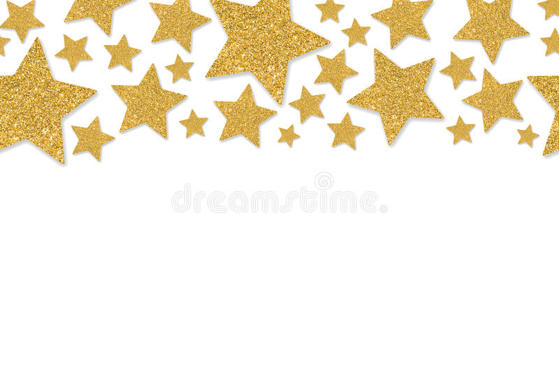 border with gold stars of sequin confetti stock image image of rh dreamstime com