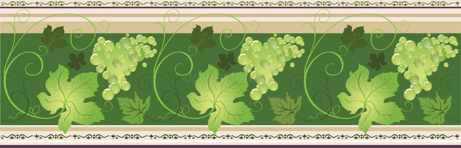 Border with grape vector illustration