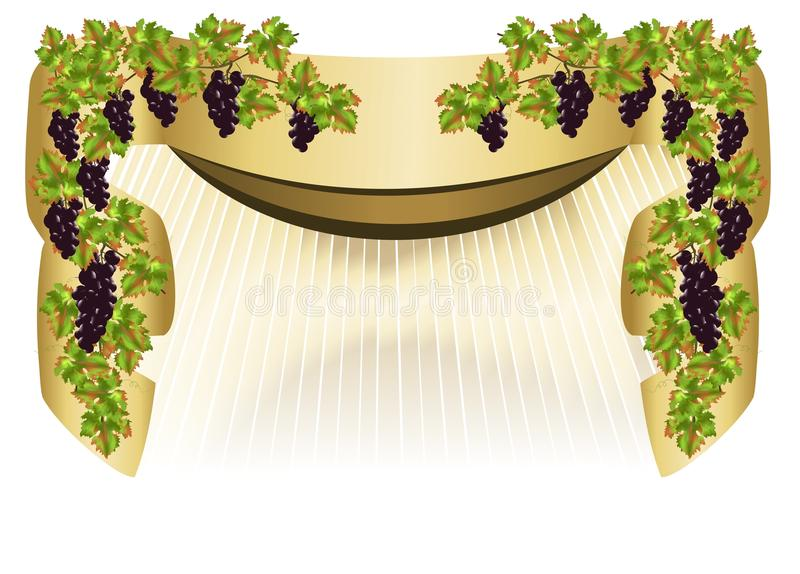 Border with grapes, cdr vector royalty free illustration