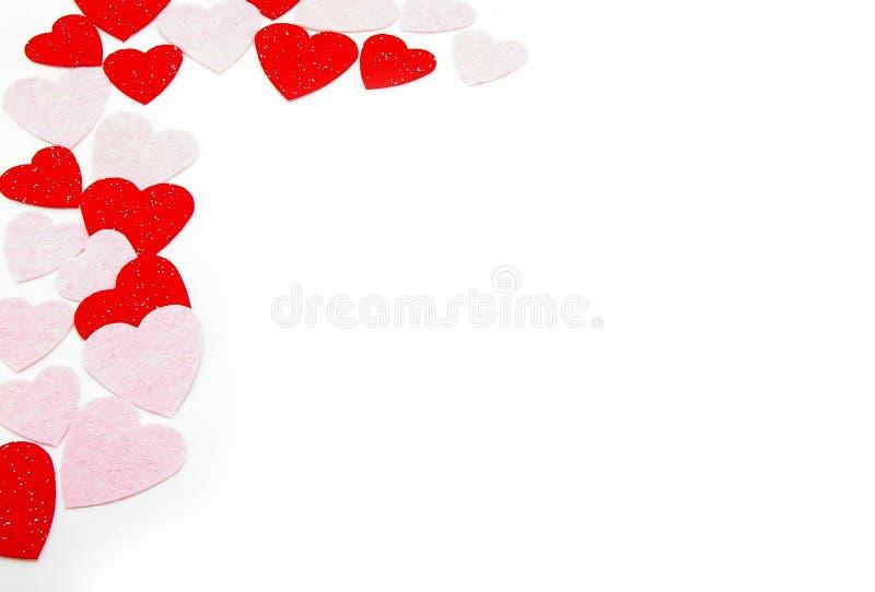 Border hearts stock photo