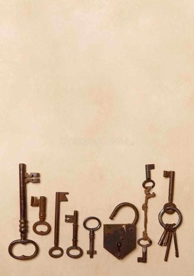 Border Of Keys Stock Photo
