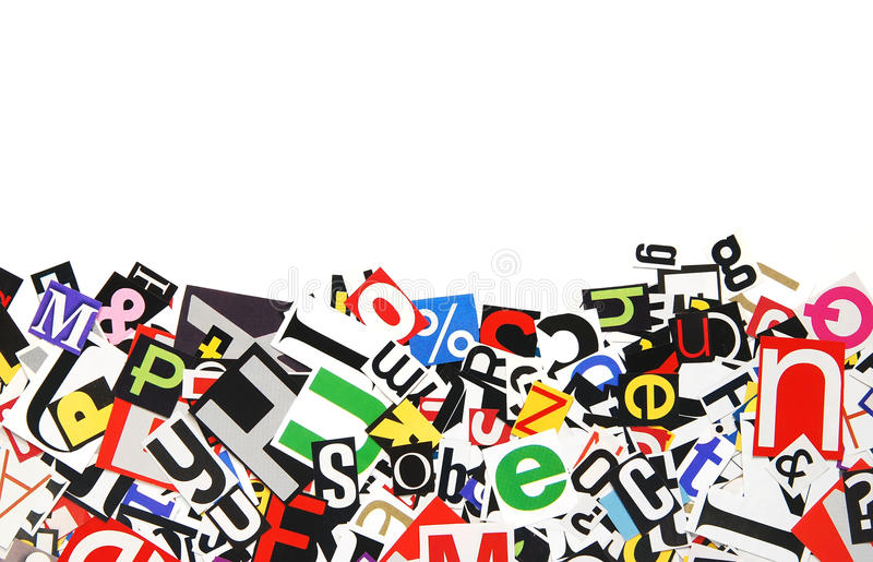 Border of letters royalty free stock photo