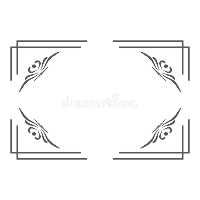 Border line design. Vector eps 10, wedding, art, elegant, certificate, clipart, decorative, old, motif, ornamental, poster, label, text, outline, borderframe royalty free illustration