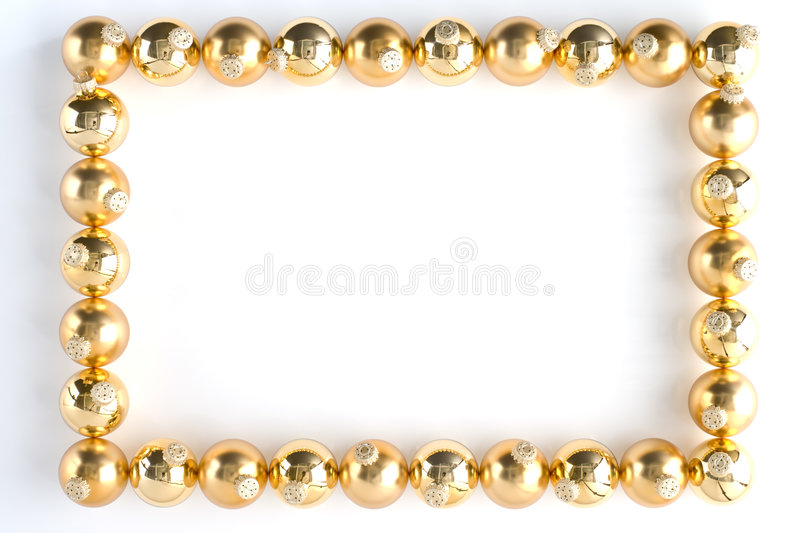 Download Border Made From Gold Baubles Stock Photo - Image: 6884056