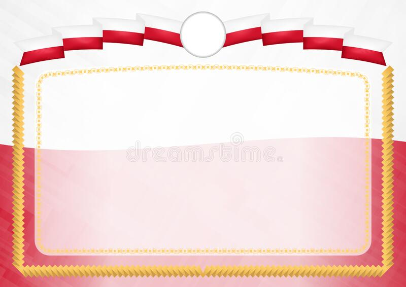 Border made with Malta national flag. Brush stroke frame. Template elements for your certificate and diploma. Horizontal orientation vector illustration