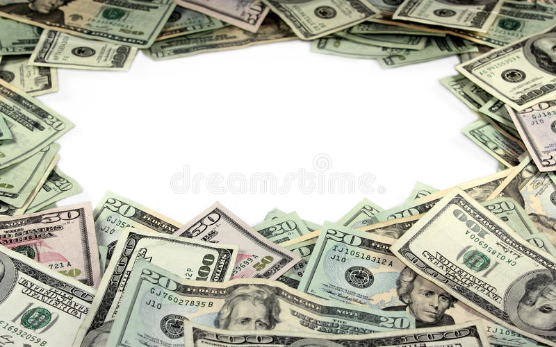 Border made of Money royalty free stock images