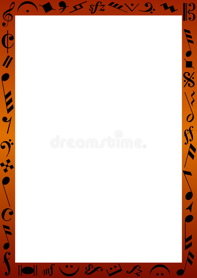 Border with music signs vector illustration