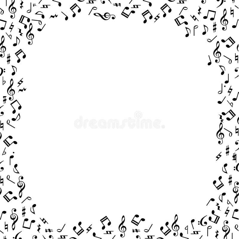 border musik royaltyfri illustrationer