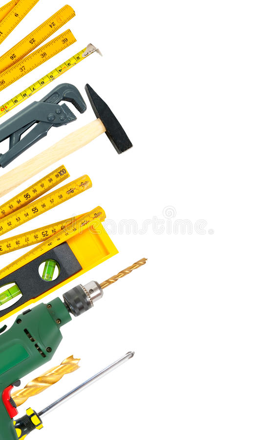 Free Border Of Working Tools Royalty Free Stock Images - 13847869