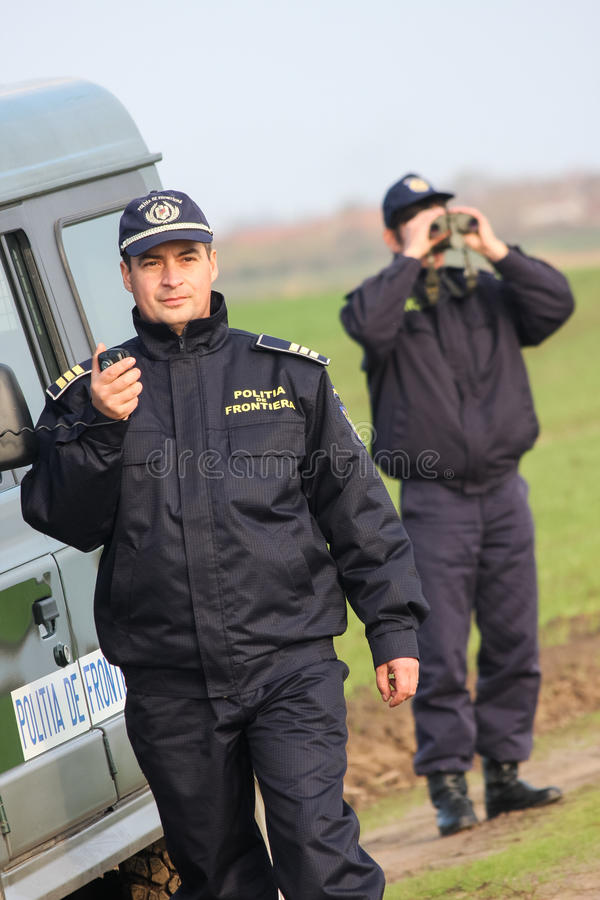 Border Policeman on duty royalty free stock photo