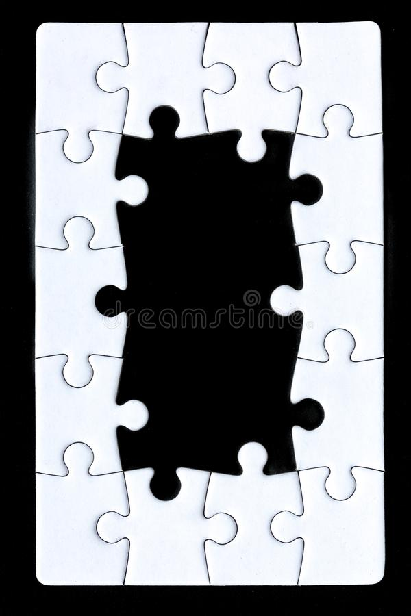 The border of a puzzle royalty free stock photography