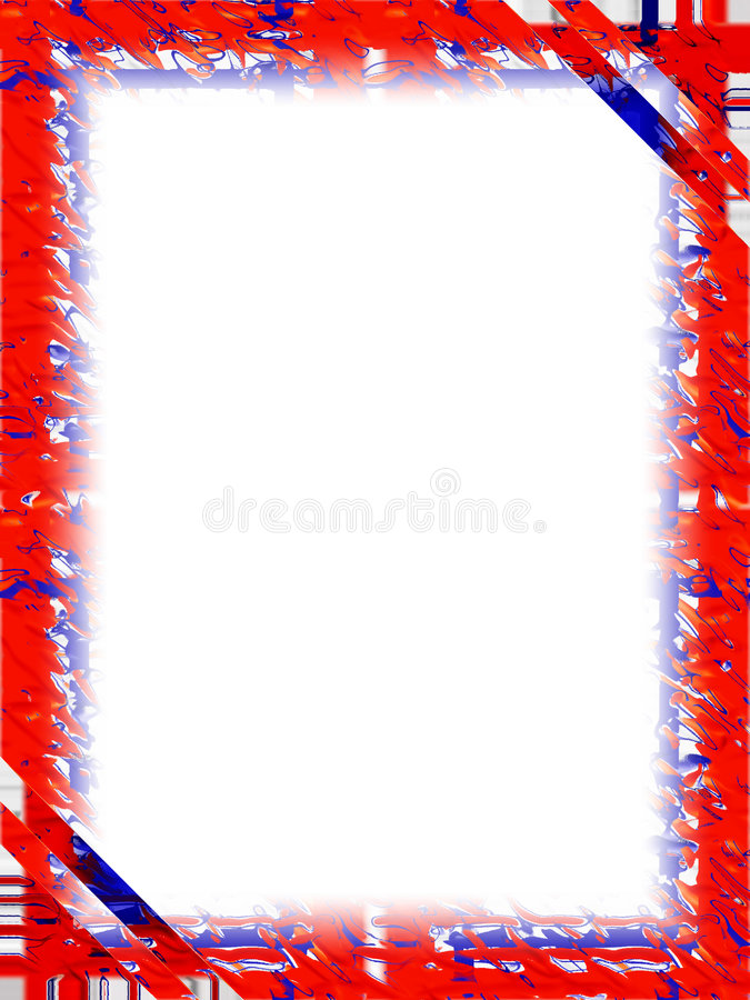 Border: Red White Blue stock illustration