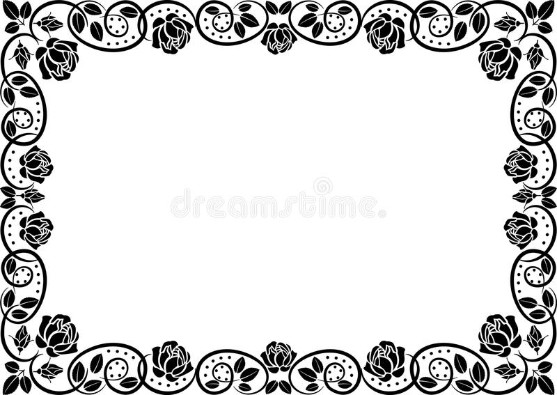 Download Border with roses stock vector. Illustration of flourish - 22403358