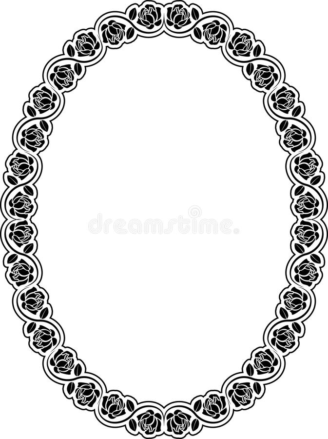 Download Border with roses stock vector. Illustration of drawings - 22792829