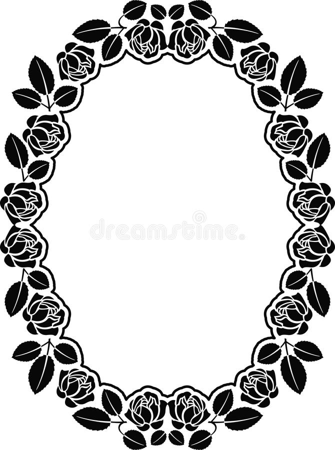 Download Border with roses stock vector. Image of leaves, decoration - 27464152