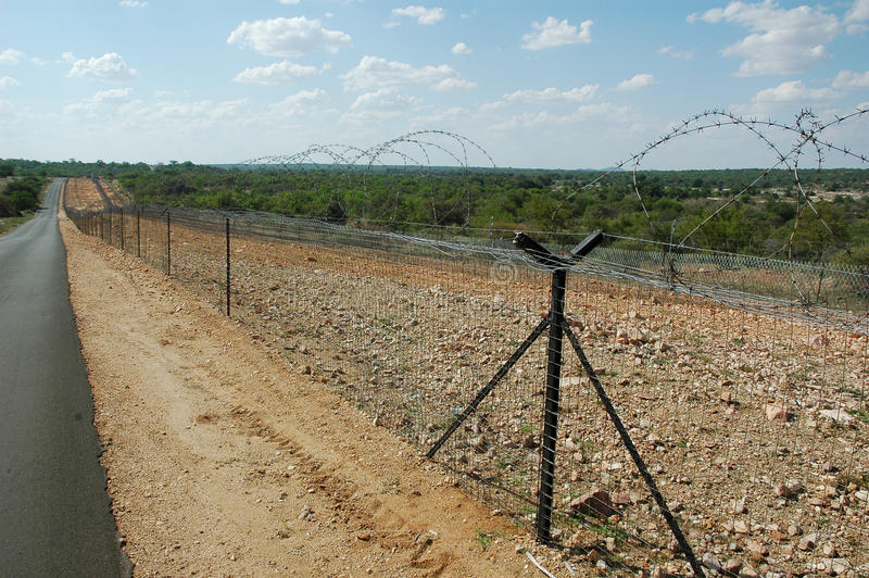 Border security fence royalty free stock photo