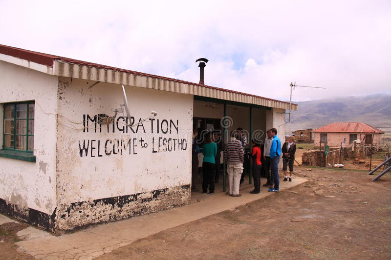 Download Border Security Lesotho Sani Pass Editorial Photo - Image: 47799346
