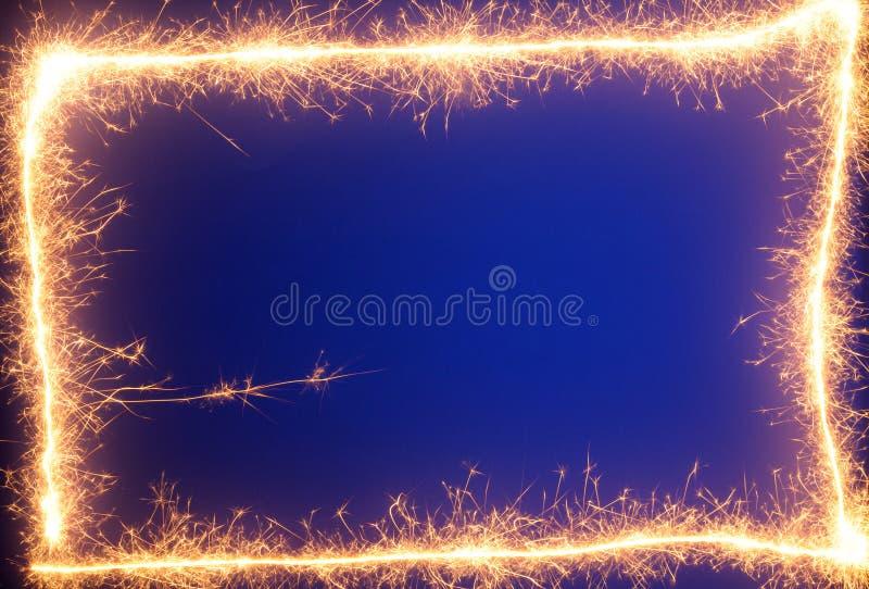 border sparklers στοκ φωτογραφία με δικαίωμα ελεύθερης χρήσης