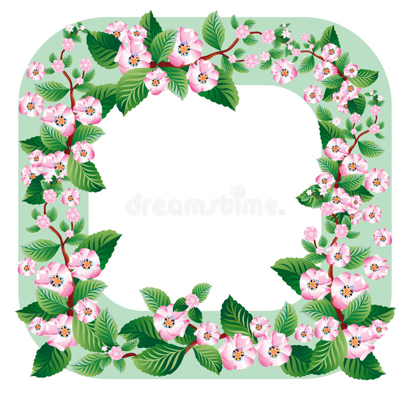 Download Border With A Sprig Of Apple Stock Vector - Image: 2619160
