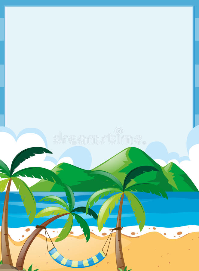 border template with beach background stock vector illustration of rh dreamstime com beach clipart transparent background