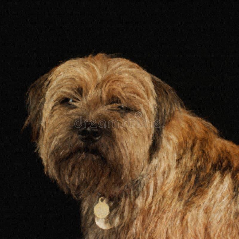 Border Terrier-Hund stock abbildung