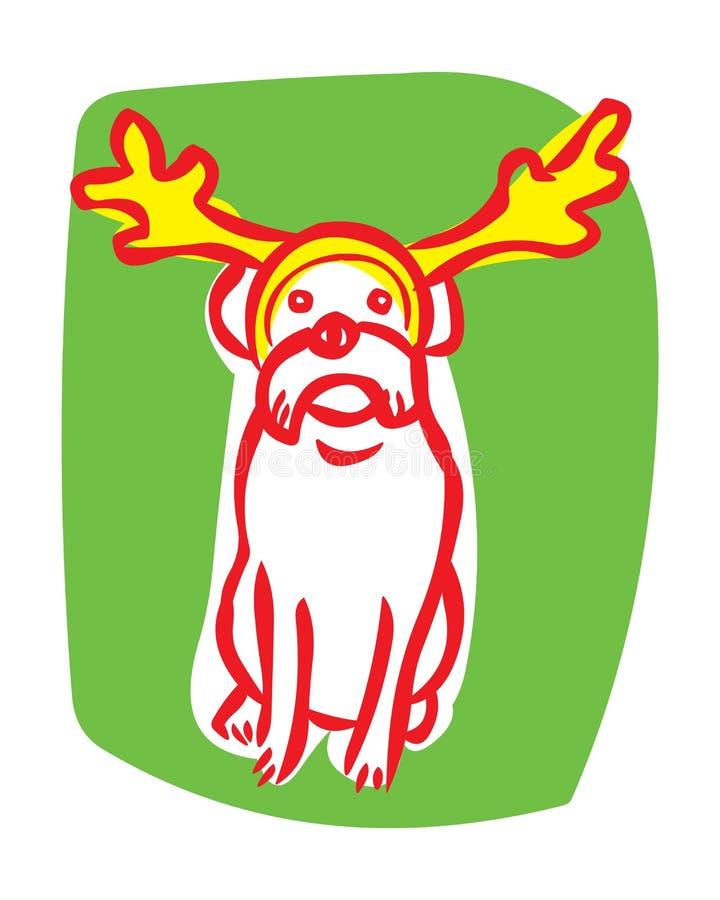 Download Border Terrier Wearing Reindeer Antlers Stock Vector - Illustration: 9935489