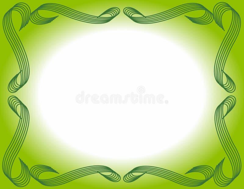 Bordered Background Green Gradient