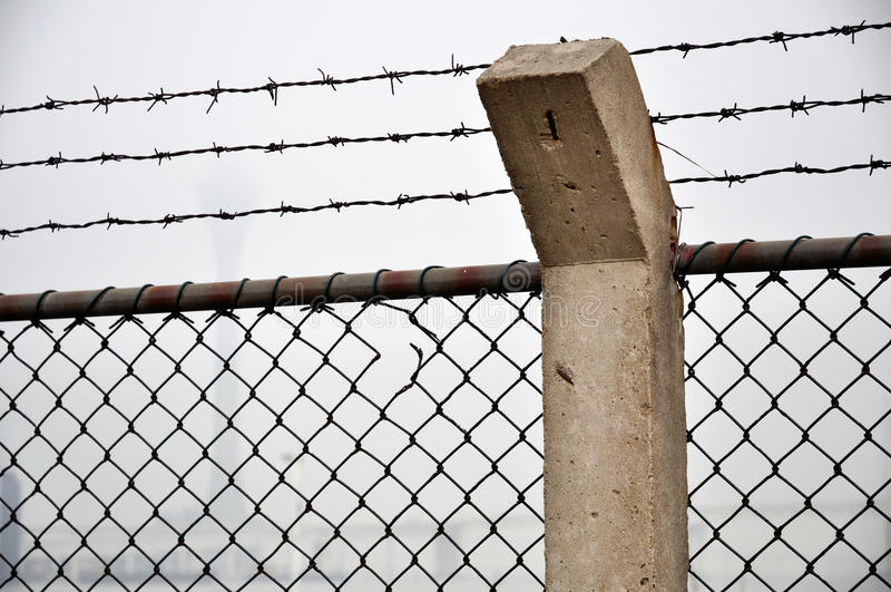 Download Borderline net stock photo. Image of sharp, cement, posts - 13406238