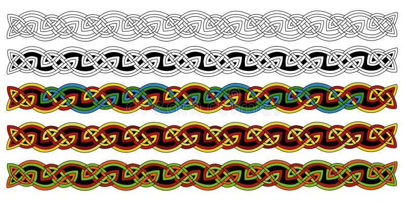 borders celtic stock illustrationer