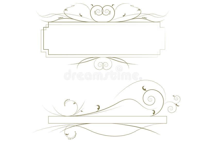 borders dekorativt vektor illustrationer