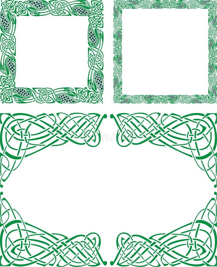 borders den celtic prydnaden stock illustrationer