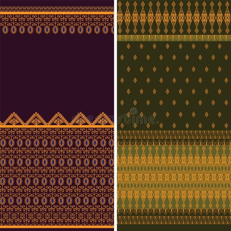 borders den indiska sarien vektor illustrationer