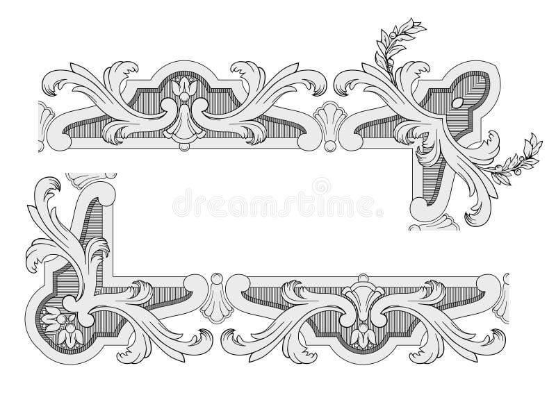 borders den kungliga vektorn royaltyfri illustrationer